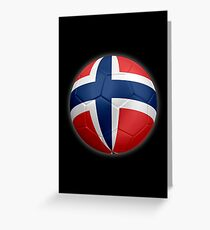 Norway - Norwegian Flag - Football or Soccer 2 Greeting Card