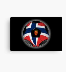Norway - Norwegian Flag - Football or Soccer Canvas Print