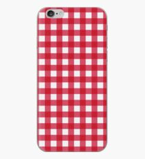 Roter Gingham iPhone-Hülle & Cover