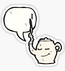 cartoon teapot Sticker
