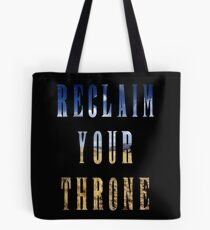 Reclaim Your Throne - Day/black Tote Bag