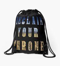 Reclaim Your Throne - Day/black Drawstring Bag