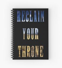Reclaim Your Throne - Day/black Spiral Notebook