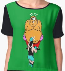 Punch Out King Hippo Chiffon Top