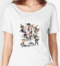 Yuri On Ice - Full Chibi Team! Women's Relaxed Fit T-Shirt