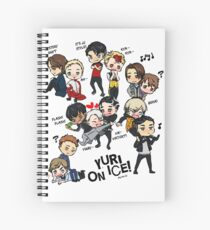 Yuri On Ice - Full Chibi Team! Spiral Notebook