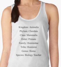 Biological Classification Biology Teacher  Women's Tank Top