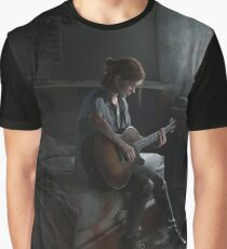 Ellie playing guitar Graphic T-Shirt