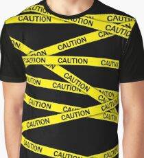 Caution Tape Graphic T-Shirt