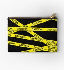 Caution Tape Studio Pouch
