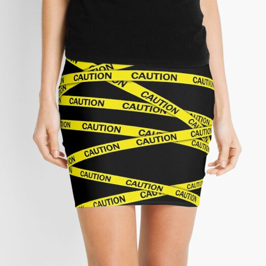 Caution Tape Mini Skirt