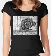 Life in the Shell surreal ink pen drawing Women's Fitted Scoop T-Shirt