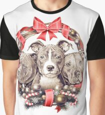 It's a Pit Bull Christmas Graphic T-Shirt