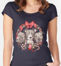 It's a Pit Bull Christmas Women's Fitted Scoop T-Shirt