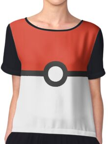 Minimalist Pokeball Women's Chiffon Top