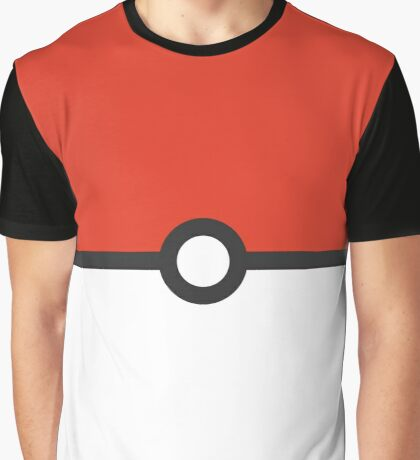 Minimalist Pokeball Graphic T-Shirt