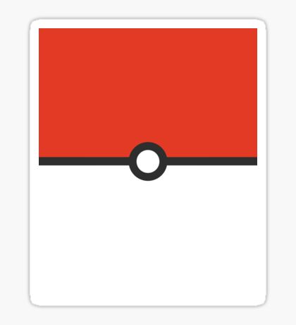 Minimalist Pokeball Sticker