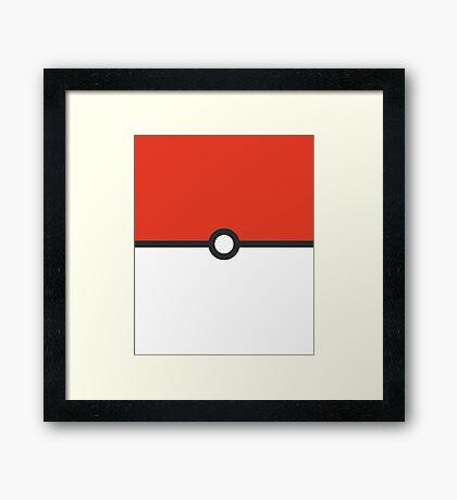 Minimalist Pokeball Framed Print