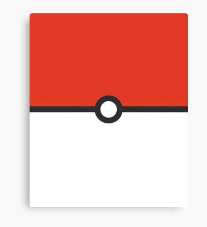 Minimalist Pokeball Canvas Print