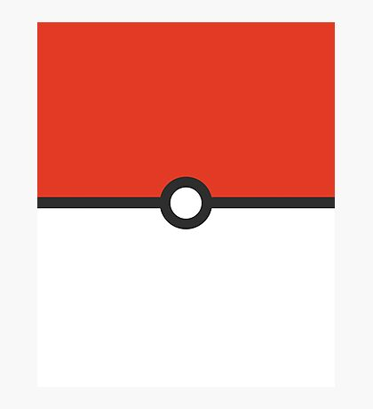 Minimalist Pokeball Photographic Print