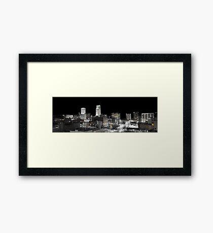 Omaha Night Lights Framed Print