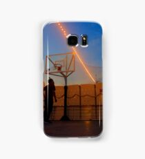 Playing Basketball in the Sunset Samsung Galaxy Case/Skin