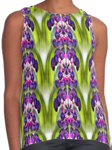 Purple Berries Abstract Nature Art Contrast Tank