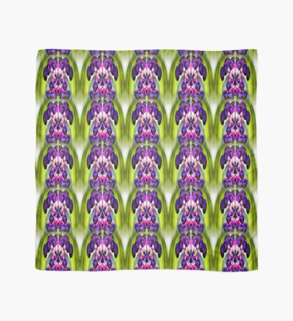 Purple Berries Abstract Nature Art Scarf