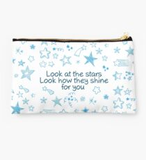 Coldplay Yellow Stars quote Studio Pouch