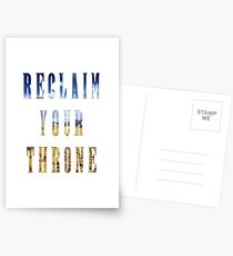Reclaim Your Throne - Day/white Postcards
