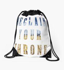 Reclaim Your Throne - Day/white Drawstring Bag