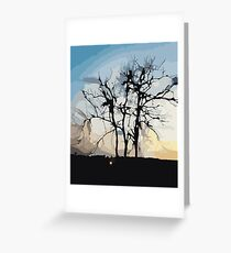 Sunset in Brazil Greeting Card