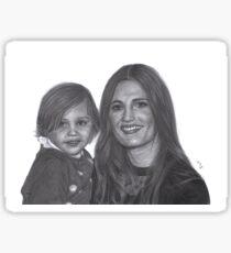 Stana Katic and her niece Sophia Sticker