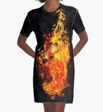 I Will Burn the HEART Out of You Graphic T-Shirt Dress