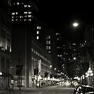 black and white cityscape by Savannah Regier