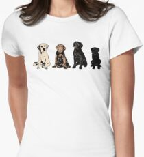 Rainbow of Puppy Love Women's Fitted T-Shirt