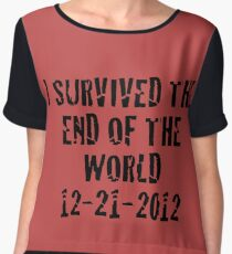 I Survived 2012 Chiffon Top