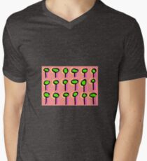 Techno (2015) (Trees) - by artcollect Men's V-Neck T-Shirt