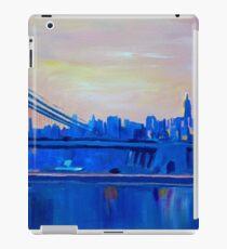 Vinilo o funda para iPad Blue Manhattan Skyline con puente y Vanilla Sky-