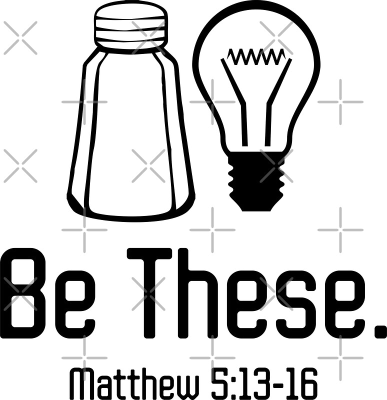 salt and light coloring page - be these salt and light christian matthew 5 13 16 t