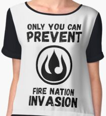 Only You Can Prevent Fire Nation Invasion Women's Chiffon Top