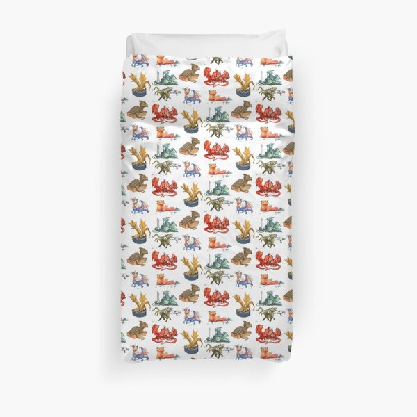 Dragons Collage Duvet Cover