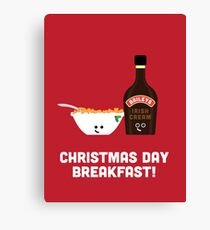 Christmas Character Building - Christmas Day Breakfast 2 Canvas Print