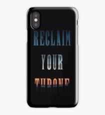 Reclaim Your Throne - Daybreak/black iPhone Case/Skin