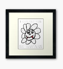Vampire Flower i Can Eat You Be Aware T-Shirt Framed Print