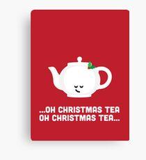 Christmas Character Building - Oh Christmas Tea Canvas Print