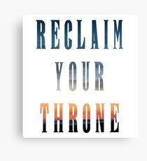 Reclaim Your Throne - Daybreak/white Canvas Print