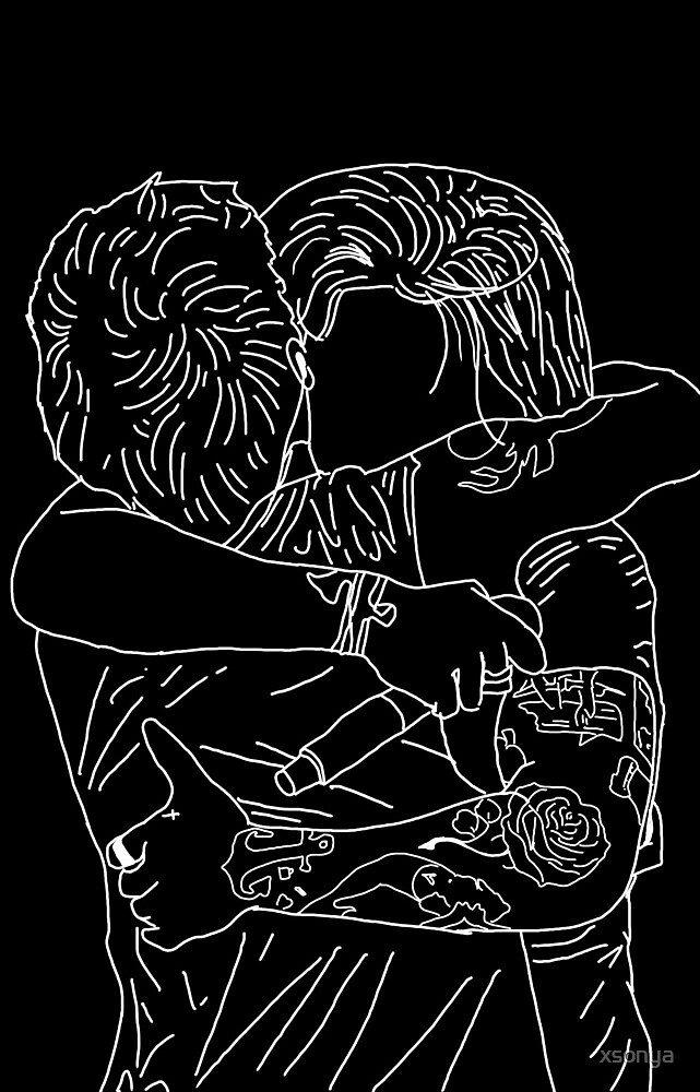 Quot Larry Stylinson Hug Outline Quot By Xsonya Redbubble