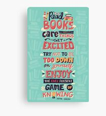 Read Books Canvas Print