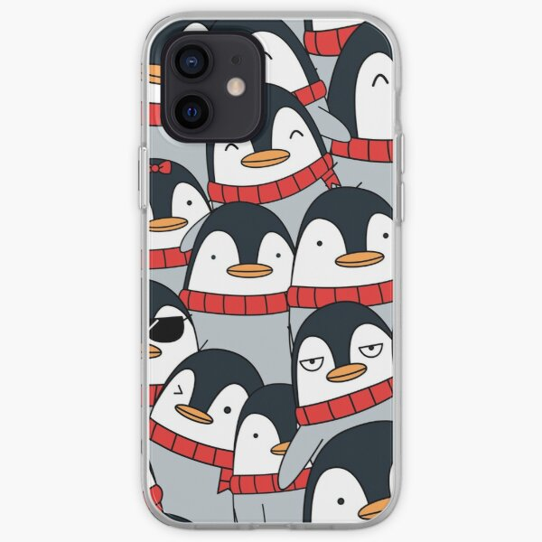 Merry Christmas Penguins! iPhone Soft Case